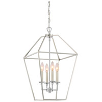 Aviary 4 Light 13 inch Polished Nickel Foyer Pendant Ceiling Light