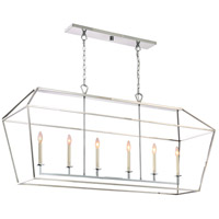 Quoizel AVY654PK Aviary 6 Light 54 inch Polished Nickel Island Chandelier Ceiling Light