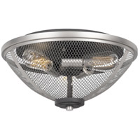 Quoizel AW1715MB Awning 3 Light 15 inch Mottled Black Semi-Flush Mount Ceiling Light