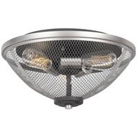 Quoizel AW1715MB Awning 3 Light 15 inch Mottled Black Semi-Flush Mount Ceiling Light