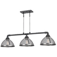 Quoizel AW344MB Awning 3 Light 44 inch Mottled Black Island Chandelier Ceiling Light