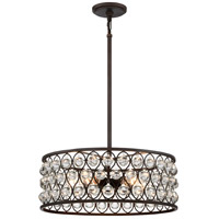 Alexandria 5 Light 20 inch Palladian Bronze Pendant Ceiling Light