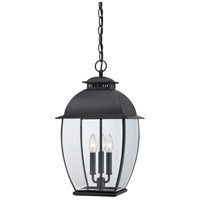 Quoizel Lighting Bain 3 Light Outdoor Hanging Lantern in Mystic Black BAN1911K