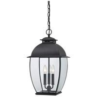 Quoizel BAN1911K Bain 3 Light 12 inch Mystic Black Outdoor Hanging Lantern