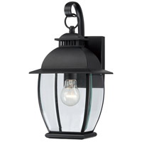 Quoizel BAN8407K Bain 1 Light 15 inch Mystic Black Outdoor Wall Lantern in Standard