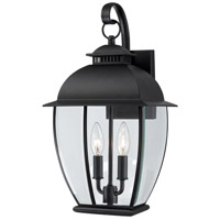 Bain 2 Light 18 inch Mystic Black Outdoor Wall Lantern
