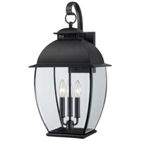 Quoizel Lighting Bain 3 Light Outdoor Wall Lantern in Mystic Black BAN8411K