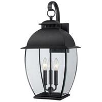 Quoizel BAN8411K Bain 3 Light 22 inch Mystic Black Outdoor Wall Lantern