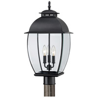 Quoizel Lighting Bain 3 Light Post Lantern in Mystic Black BAN9011K
