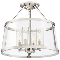 Quoizel BAW1716PK Barlow 4 Light 16 inch Polished Nickel Semi-Flush Mount Ceiling Light
