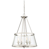 Quoizel BAW1820PK Barlow 4 Light 20 inch Polished Nickel Foyer Chandelier Ceiling Light