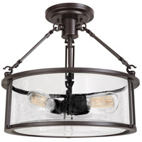Quoizel BCN1716WT Buchanan 3 Light 16 inch Western Bronze Semi-Flush Mount Ceiling Light