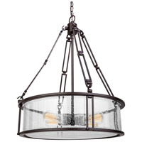 Quoizel BCN2820WT Buchanan 4 Light 20 inch Western Bronze Pendant Ceiling Light