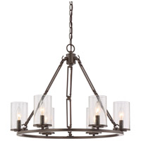 Quoizel BCN5006WT Buchanan 6 Light 25 inch Western Bronze Chandelier Ceiling Light