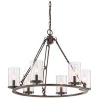 Quoizel BCN5006WT Buchanan 6 Light 25 inch Western Bronze Chandelier Ceiling Light alternative photo thumbnail