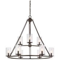 Buchanan 9 Light 33 inch Western Bronze Foyer Chandelier Ceiling Light