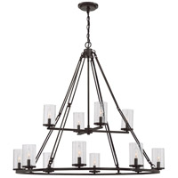 Quoizel BCN5012WT Buchanan 12 Light 43 inch Western Bronze Chandelier Ceiling Light