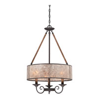 Quoizel Lighting Bandelier 3 Light Pendant in Imperial Bronze BDR2820IB