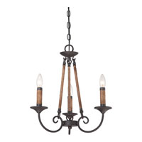 Quoizel Lighting Bandelier 3 Light Chandelier in Imperial Bronze BDR5003IB