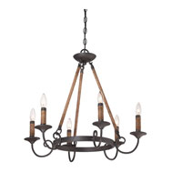 Bandelier 6 Light 26 inch Imperial Bronze Chandelier Ceiling Light
