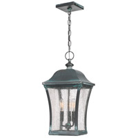 Quoizel BDS1910AGV Bardstown 3 Light 10 inch Aged Verde Outdoor Hanging Lantern