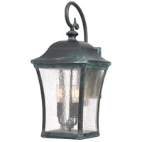 Bardstown 3 Light 23 inch Aged Verde Outdoor Wall Lantern