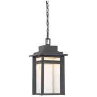 Beacon 9 inch Stone Black Outdoor Hanging Lantern