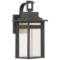 Quoizel Beacon Outdoor Wall Lantern in Stone Black BEC8406SBK