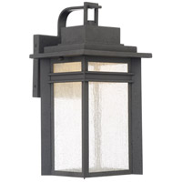 Beacon 17 inch Stone Black Outdoor Wall Lantern