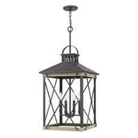 Quoizel BEN5216OK Brennan 4 Light 17 inch Old Black Foyer Chandelier Ceiling Light