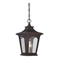 Quoizel Bedford 1 Light Outdoor Hanging Lantern in Palladian Bronze BFD1910PNFL