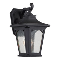 Quoizel Bedford 1 Light Outdoor Wall Lantern in Mystic Black BFD8407KFL