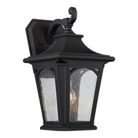 Quoizel Bedford 1 Light Outdoor Wall Lantern in Mystic Black BFD8408KFL