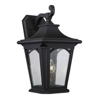 Quoizel Bedford 1 Light Outdoor Wall Lantern in Mystic Black BFD8410KFL
