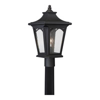 Quoizel Bedford 1 Light Outdoor Post Lantern in Mystic Black BFD9010KFL