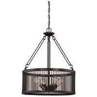 Belgrade 4 Light 21 inch Western Bronze Pendant Ceiling Light