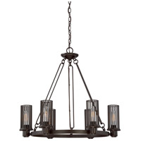Quoizel BGD5006WT Belgrade 6 Light 28 inch Western Bronze Chandelier Ceiling Light, 6 Arms
