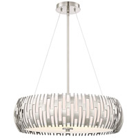Brigade 4 Light 22 inch Antique Polished Nickel Pendant Ceiling Light