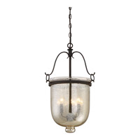 Burgess 3 Light 15 inch Rustic Black Foyer Chandelier Ceiling Light