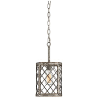 Quoizel BH1508RG Booth 1 Light 9 inch Rustic Gold Mini Pendant Ceiling Light