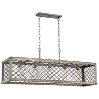 Quoizel BH542RG Booth 5 Light 43 inch Rustic Gold Island Chandelier Ceiling Light