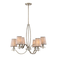 Quoizel BHN5006VG Belhaven 6 Light 27 inch Vintage Gold Chandelier Ceiling Light