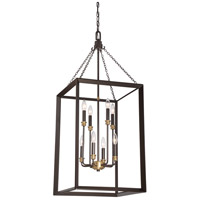 Brook Hall 8 Light 18 inch Western Bronze Foyer Chandelier Ceiling Light