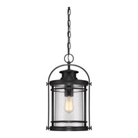 Quoizel Booker 1 Light Hanging Lantern in Mystic Black BKR1910KFL
