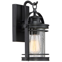 Quoizel Booker 1 Light Wall Lantern in Mystic Black BKR8406K