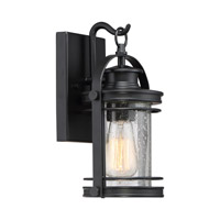 Quoizel Booker 1 Light Wall Lantern in Mystic Black BKR8406KFL