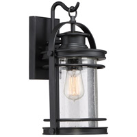 Quoizel Booker 1 Light Wall Lantern in Mystic Black BKR8408K