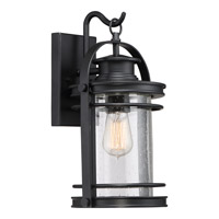 Booker 1 Light 9 inch Mystic Black Wall Lantern Wall Light in CFL Spring Self-Ballasted GU 24