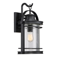 Quoizel Booker 1 Light Wall Lantern in Mystic Black BKR8410KFL