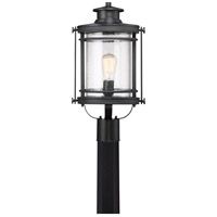 Booker 1 Light 20 inch Mystic Black Post Lantern in A21 Medium Base, Aluminum-Steel